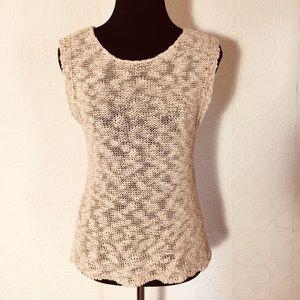New York & Co. Beige Peach sleeveless sweater S